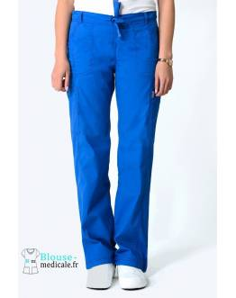 Pantalon Medical Femme Anti taches Bleu Royal