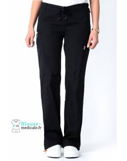 Pantalon Medical Femme Anti taches Noir