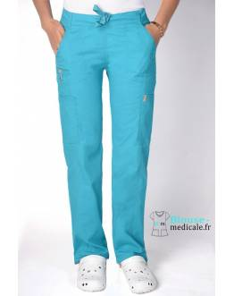 Pantalon Medical Femme Anti taches Bleu Lagon