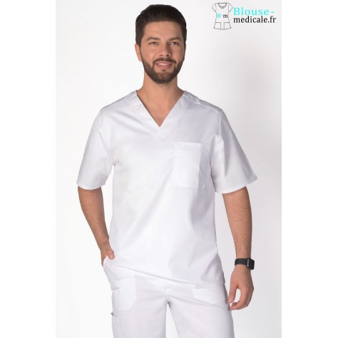 Tunique Medicale Homme Cherokee Luxe Blanc 1929