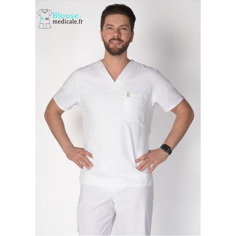 Tunique Medicale Homme Code Happy Blanc 16600AB