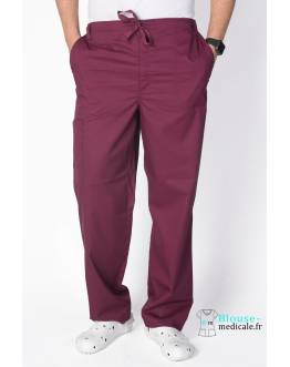 Pantalon Medical Homme Cherokee Luxe Bordeaux 1022