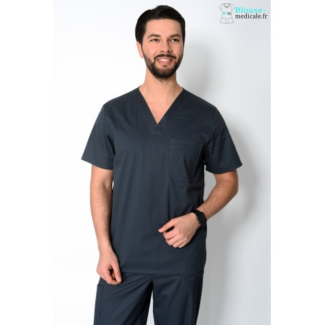 Tunique Medicale Cherokee Homme Gris Anthracite 4743