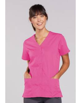 Blouse Médicale Pression Femme Cherokee 4770 Rose