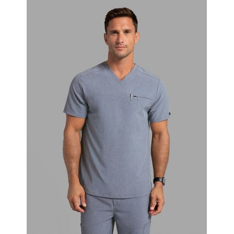 "Tunique Jaanuu Homme ""Refined V-Neck Top"" Gris Chiné"