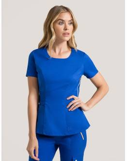 "Tunique Jaanuu ""Pintuck Top"" Bleu Royal Collection Jolie"