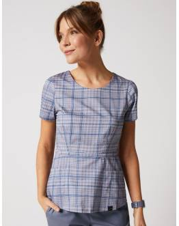 "Tunique Jaanuu ""Peplum Top"" Imprimé Grey Plaid Collection Prints"