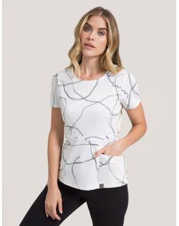 "Tunique Jaanuu ""Peplum Top"" Imprimé Marble Collection Print"