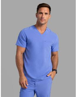"Tunique Jaanuu Homme ""Refined V-Neck Top"" Bleu Ciel Ancienne Collection"