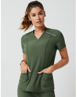 "Tunique Jaanuu ""Shift V-Neck Top"" Army Green Collection Arya"