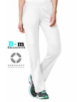 Pantalon Medical Cherokee Antimicrobien Femme Blanc 44200A