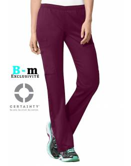 Pantalon Medical Cherokee Antimicrobien Femme Bordeaux 44200A