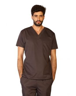 Tunique Medicale Homme Life Threads 3110 Gris Anthracite