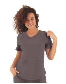 Tunique Medicale Femme Life Threads 1510 Gris Anthracite