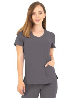 Tunique Medicale Femme Life Threads 1512 Gris Anthracite